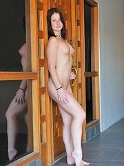Public nude with Veronika